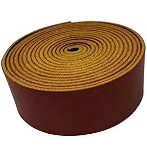 "TOFL 皮革条 2.54 厘米宽,113.4 克厚 0.16 厘米厚和 182.88 厘米长保质带 *红色 1"" wide 1/16 thick 4 oz"