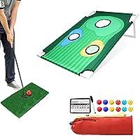 ibigbean 便携式高尔夫剥落击球板高尔夫核心孔游戏适用于家庭游戏(高尔夫)