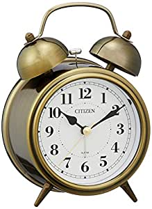 CITIZEN 西铁城 闹钟 双闹铃 RA06 复古/金色(熏色加工)8RAA06-063