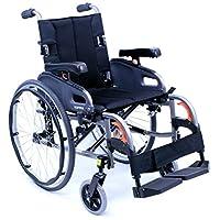Karman Healthcare 超轻可调节轮椅,钻石黑色,40.64 厘米 x 45.72 厘米