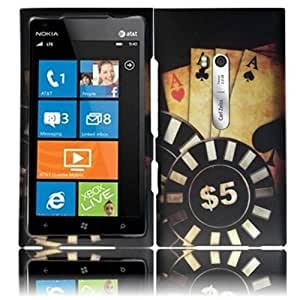 HR Wireless Nokia Lumia 900 Rubberized Design Protective Cover - Retail Packaging - Ace Poker