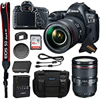 Canon EOS 5D Mark IV DSLR 相机带 24-105mm f/4L II 镜头 + 32GB SD + Sunshine Basic Bundle