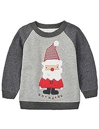 Baby Toddler 女孩男孩圣诞毛衣 可爱棉质套头运动衫