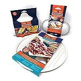 可用于微波炉的 Omelet 平底锅,2 个槽式鸡蛋锅和双面圆形培根和肉类烧烤早餐烹饪套装