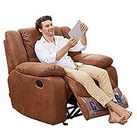Cheers 芝华仕 复合布艺沙发8279单椅手动可躺可摇 (标价仅为商品价格,如需运送/安装,请咨询客服具体费用。咨询电话:400-688-9099 QQ:648538692/3478725759) (亚马逊自营商品, 由供应商配送)