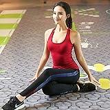 瑜伽服性感吊带背心 带胸垫速干长裤 健身跑步服套装女