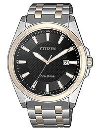 CITIZEN 西铁城 男士指针式石英手表 不锈钢表链 BM7109-89E