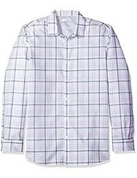 Calvin Klein 男式无限酷炫长袖纽扣衬衫 blown UP 格子
