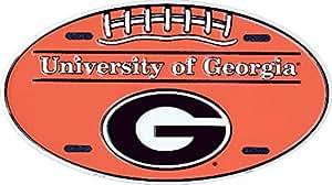 佐治亚大学椭圆车牌锡标志 15.24 x 30.48 厘米