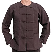 raanpahmuang 加厚 muang 棉质青蛙扣圆形泰国领衬衫加大尺码