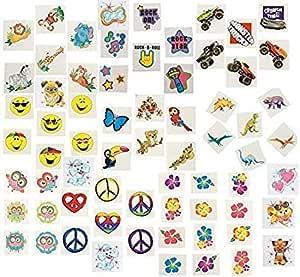 纹身品组合 - 360 件 - 男孩或女孩派对礼物