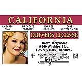 Signs 4 Fun Ndbid Drew Barrymore's Driver's License
