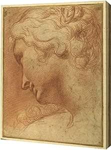 "PrintArt GW-POD-69-AGC02-16x20 ""The Head of A Young Woman"" 来自 Agostino Caracci 画廊装裱艺术微喷油画艺术印刷品 9"" x 12"" GW-POD-69-AGC02-9x12"