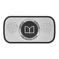 Monster 魔声 Superstar 蓝牙音箱音响 迷你便携式重低音小音箱 软胶外套保护 银黑色(129260)