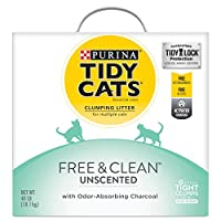Purina Tidy Cats Free & Clean With TidyLock Protection Clumping Cat Litter - 40 lb. Box