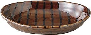孔雀 紫水桶型咖喱碟 [咖喱碟] [24.8 x 16.2 x 5.2cm]