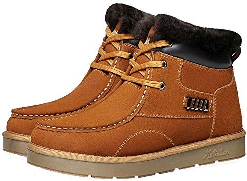 mulinsen 木林森 雪地靴男 冬季保暖靴子 加绒短筒男鞋靴 男士休闲棉鞋