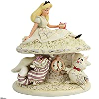 Enesco Disney Traditions by Jim Shore White Woodland 爱丽丝仙境雕像