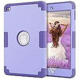 iPad mini 4保护套4 ipad mini retina 保护套 bentoben 防滑防震硅胶高耐冲击混合三层装甲保护套适用于 iPad mini 4 M367-light purple/purple