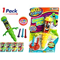 JA-RU Gyro Shaking 筆(4 支裝)和 1 個彈跳球套裝振動樂趣。 各種款式| 商品 #1316-4p 1包