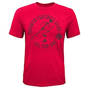 MLS Toronto FC Boys -Triblend to The Grave Short sleeve Tee, Red, Small (4)