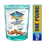 Blue Diamond Almonds 烤箱烘烤海盐杏仁, 16盎司(452.8克)