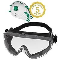 PRO-TECTIVE EQUIP 护目镜&N95口罩套装 防雾/防刮/防冲击 ANSI z87.1认证