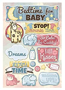 Cardstock Stickers-Bedtime For Baby
