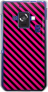 CaseMarket docomo AQUOS PHONE ZETA (SH-02E) 聚碳酸酯 透明硬壳 [ 条纹 线条 - 粉色 ]