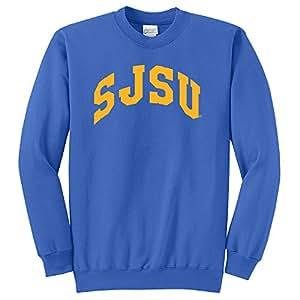 Campus Merchandise NCAA 圣何塞州斯巴达人拱形经典圆领运动衫,宝蓝色,4XL 码