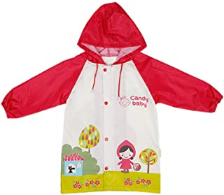 Candy-Baby 儿童男孩女孩防水连帽雨衣/雨衣外套儿童 3T-8T