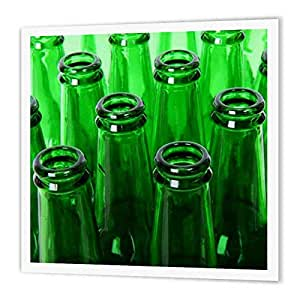Florene Food and Beverage - Closeup Of Green Beer Bottles - Iron on Heat Transfers 10-Inch