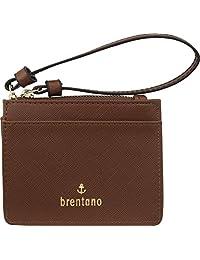 B BRENTANO Vegan Saffiano 皮革纤薄身份证信用卡盒带腕带