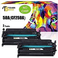 硒鼓兼容硒鼓替换件适用于 HP 58A CF258A CF258X 58X Laserjet Pro M404dn M404dw M404n MFP M428fdw M428fdn M428dw M304 M404 M428 打印机墨水无芯片(黑色,2 件装)