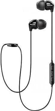 Philips Upbeat SHB3595 无线耳机,配有长达 6 小时的播放时间,内嵌麦克风SHB3595BK/10 Neckband 均码