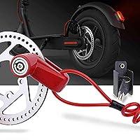 WELLSTRONG 防盗钢丝锁盘式制动轮锁套装适用于小米 M365 电动滑板车配件车轮储物柜带提醒绳