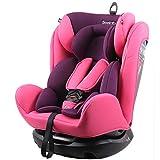 REEBABY 瑞贝乐 汽车儿童安全座椅ISOFIX 0-4-6-12岁婴儿宝宝新生儿可躺 906FIX粉色(供应商直送)