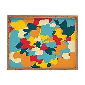 Deny Designs Budi Kwan Aloha 迷彩室内/室外矩形托盘,35.56 x 45.72 厘米