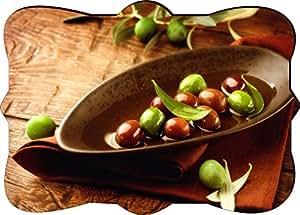 Rikki KnightTM Rustic Scene Olives And Olive Oil Design Fancy Rectangle Shaped Art Fridge Magnet