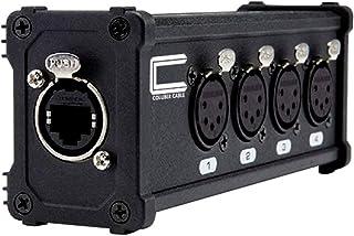 4 通道 5 针 XLR 母头适配器至单以太网电缆 - 小型 Cat6 DMX 扩展器 RJ45 Cat5/Cat6 以太网电缆