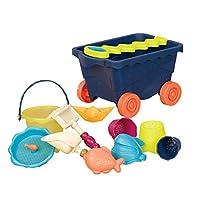B.Toys 比乐 户外沙滩仿真玩具车大号玩沙玩具 浴室玩具组合 沙滩装卸车玩具套装-海军蓝 婴幼儿童益智玩具 礼物 18个月+ BX1376Z
