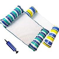 FIGROL 泳池浮水吊床多功能泳池浮吊床便携式泳池户外玩具适用于马鞍、躺椅、吊床、漂移(蓝色)