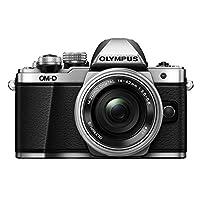 OLYMPUS 奥林巴斯 E-M10 Mark II 单电电动镜头套装(14-42mm EZ F3.5-5.6 电动变焦镜头) (银色)