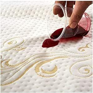 "OctoRose 高级防水雪尼尔绗缝床套床垫保护套。 舒适乙烯基材质,防尘螨、*原、汗水和液体溢出。 米色 Full(54x75"")"