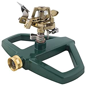 Melnor Impact Lawn Sprinkler, Metal Head & Metal Sled, Adjustable Angle and Distance, Waters Up to 85?? Diameter Circle