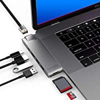 CharJenPro MacBar E USB C Hub for Apple MacBook Air 2018-2019, MacBook Pro 2016-2019, HDMI 4K, 100W PD, 40Gbps Thunderbolt 3, GIGABIT Ethernet, 2 USB 3.0, Micro SD/SD 读卡器CJ0705 MacBar E