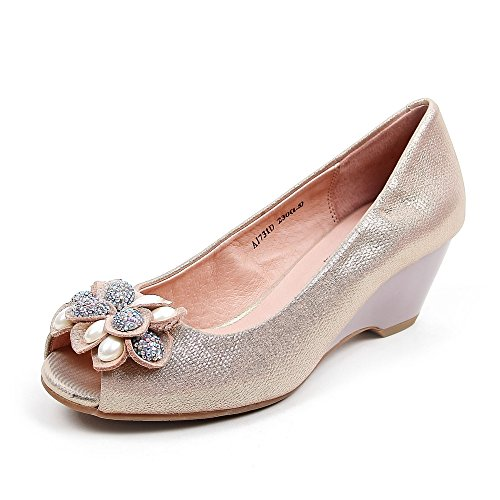 Teenmix 天美意 天美意春季专柜同款羊皮女皮凉鞋专柜 AJ731AU5