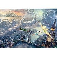 1000片 拼图 Peterpan Tinker Bell and Peter Pan Fly to Never Land 特别艺术收藏 (51x73.5cm)