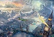 1000片 拼圖 Peterpan Tinker Bell and Peter Pan Fly to Never Land 特別藝術收藏 (51x73.5cm)