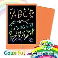Orsen LCD 書寫平板電腦 10 英寸 彩色涂鴉板 繪圖板 可擦除 可重復使用的書寫板 教育男孩女孩玩具 2 - 6 歲女孩男孩禮物(藍色)